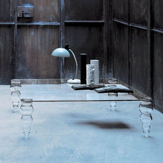 Large glass tables