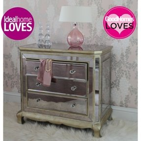 Large mirrored chest of drawers