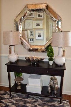 Leather console table 3