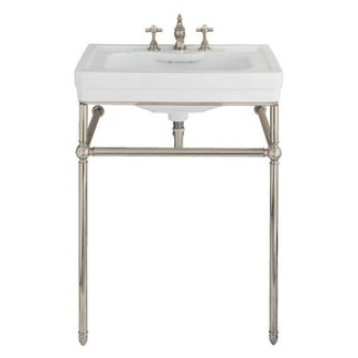 Lutezia 28 Inch Console Lavatory Sink By Porcher Traditional Bathroom