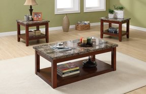 Marble top coffee table sets 2