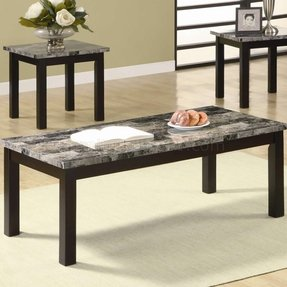 Marble top coffee table sets
