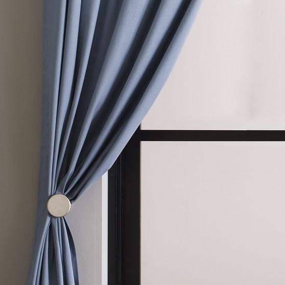 Curtain or Drapery Hold Backs Tie Backs Red Black Metal Flower 2