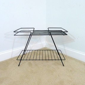 Mid century modern wire stand metal tv