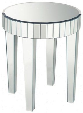 Mirrored round end table 1
