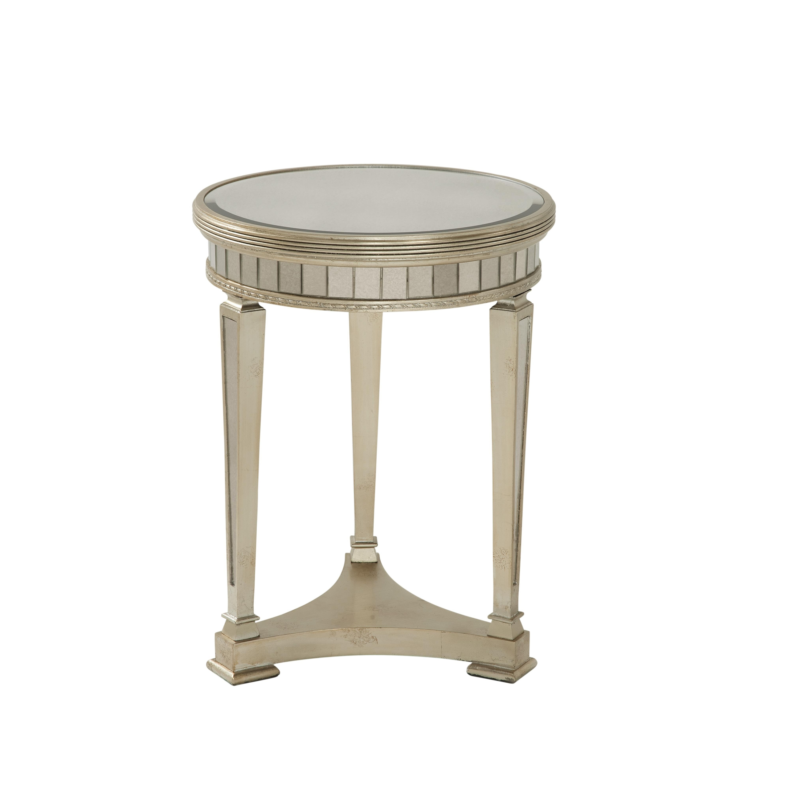 Mirrored Round End Table 2