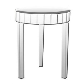 Mirrored round end table 33