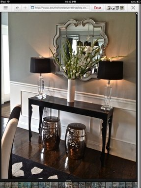 Narrow black console table 7