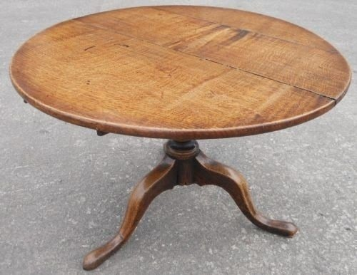 Oak Round Coffee Table 2