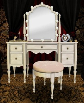 Old hollywood makeup vanity