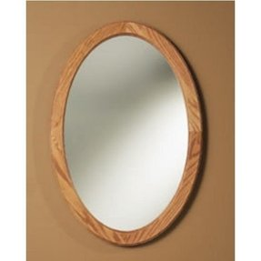 Oval mirrored medicine cabinet 15