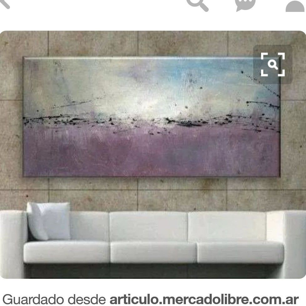 ABSTRACT WALL ART PICTURE CREAM GREY PURPLE LARGE CHECK SQUARE CANVAS 4 PANELS