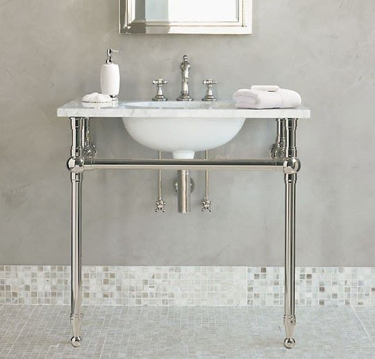 Exceptionnel Pedestal Sink With Metal Legs