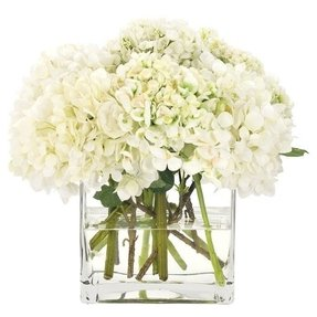 Petal perfect natural decorations inc faux hydrangea arrangement i