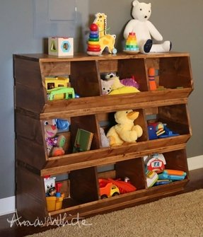Playroom organization furniture