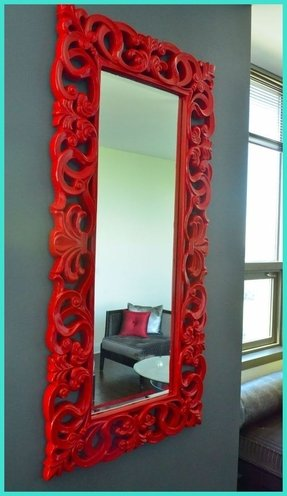 Red frame mirror 2
