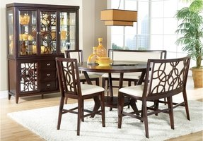 Round counter height dining table set 7