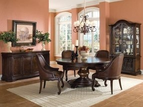 Round dining room sets with leaf 2