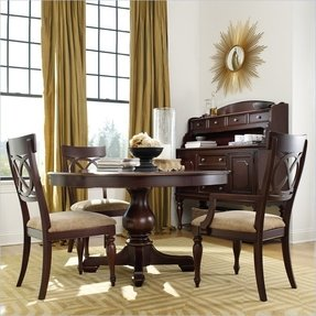 Round dining room sets with leaf 4