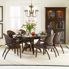 Round Dining Table Set With Leaf - Foter