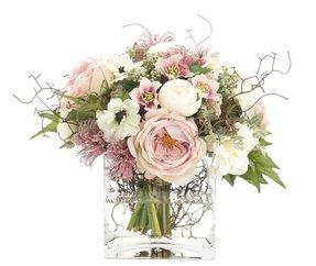 Silk peonies arrangement foter silk pink peonies mightylinksfo