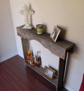 Skinny console table small entry table