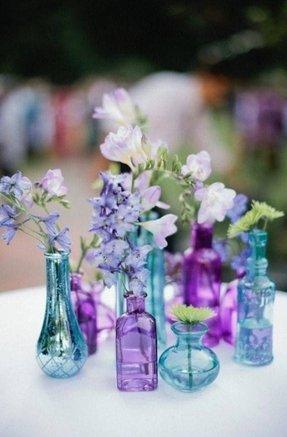 Small Blue Vase Foter