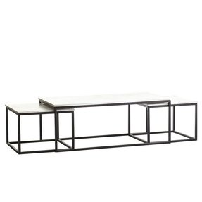 Marble Top Coffee Table Sets Foter - Rectangle white marble coffee table