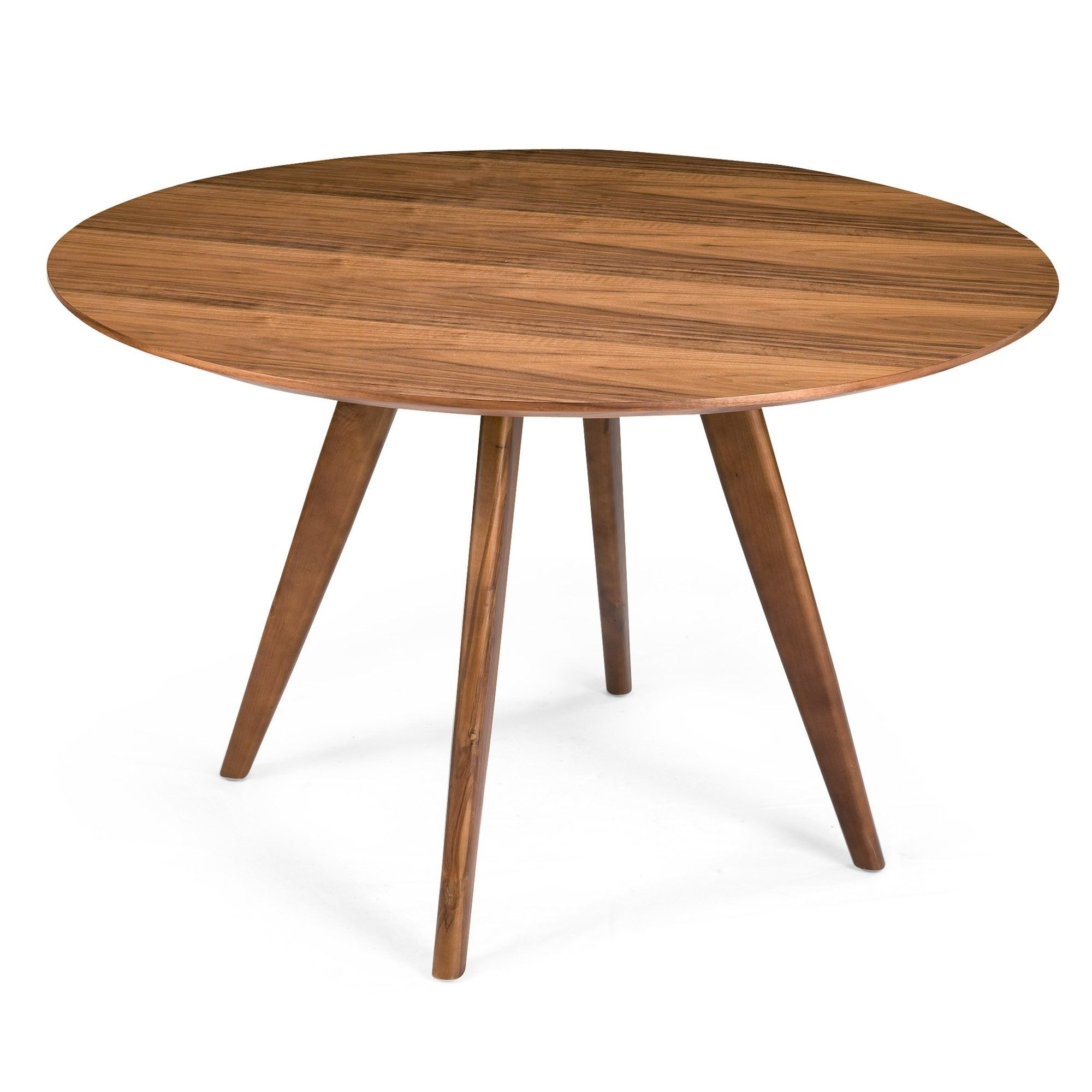 Superieur Sole Walnut Round Dining Table