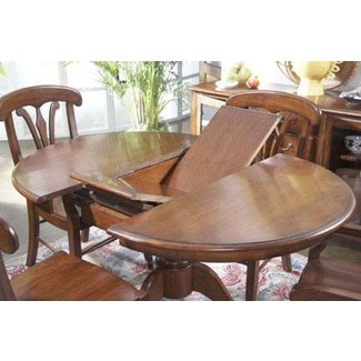 round dining room table with leaves | Round Dining Table With Butterfly Leaf - Foter