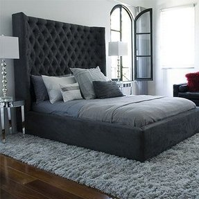Black Tufted Headboards Foter
