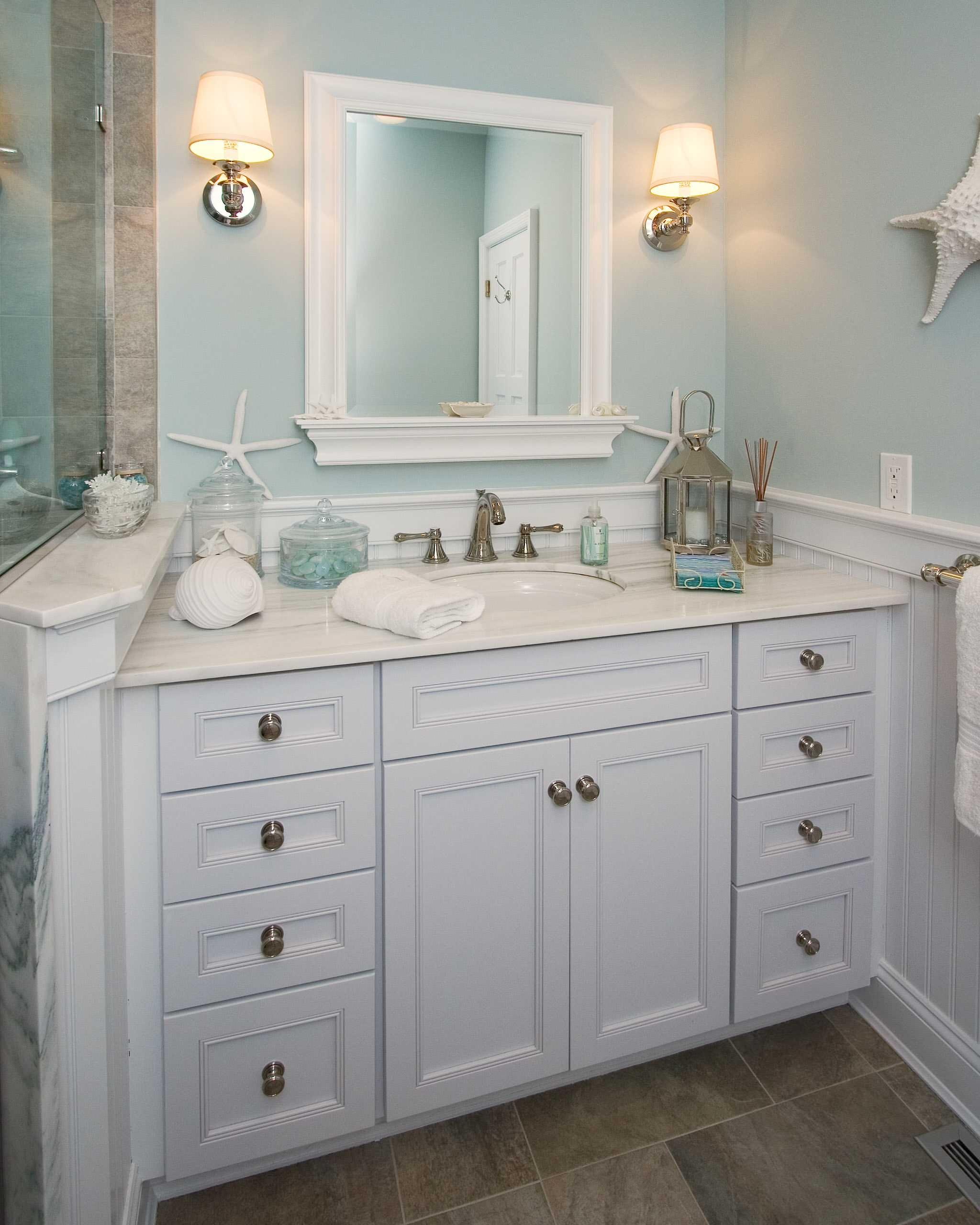 Turquoise Bathroom Vanity