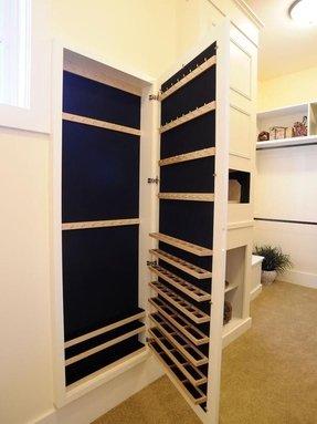 Wall Mirror With Jewelry Storage - Foter