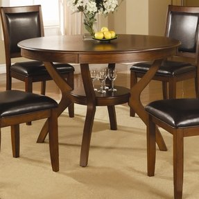 Walnut round dining table 12