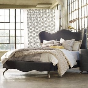 Wingback bed frame