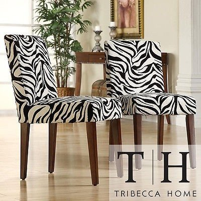 Zebra Animal Print Chair (Set Of 2) Creates A Modern Look With Upholstered  Awesome