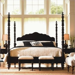 Black four poster bed 5