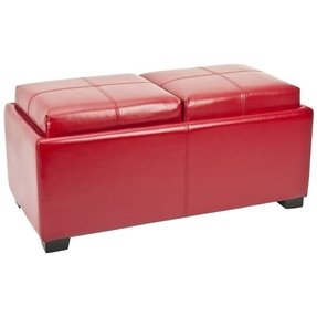 Enjoyable Leather Storage Ottoman With Tray Ideas On Foter Bralicious Painted Fabric Chair Ideas Braliciousco