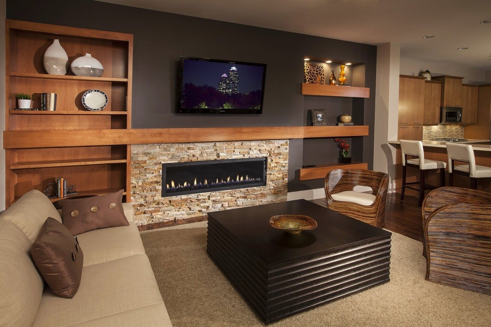 Built In Electric Fireplace 1