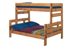 Chelsea Home Furniture Decor Twin Over Full Bunk Bed Mahogany Stain