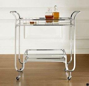 Silver Bar Cart Foter