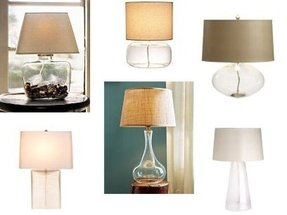 Clear glass lamp shades 2
