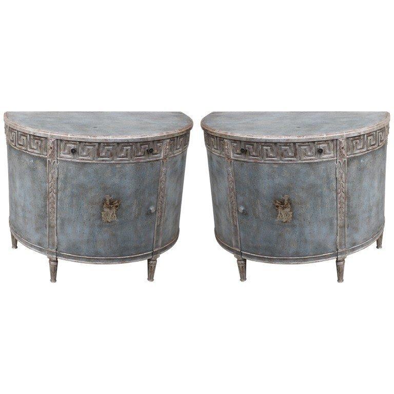 Superb Demi Lune Cabinet 24