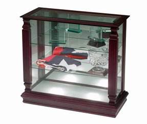 Small glass curio cabinet display case foter display cabinets with glass doors eventshaper
