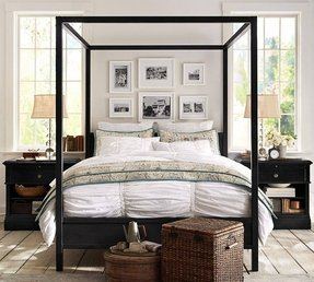 Frances metal canopy bed cal king iron finish traditional beds