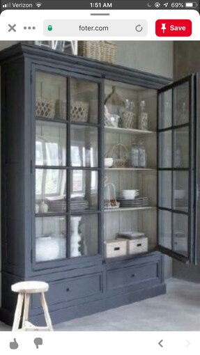 Glass front storage cabinet 1