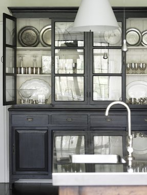 Glass front storage cabinet 6