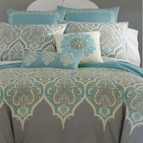 Gray paisley bedding 5