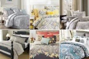 Gray paisley bedding