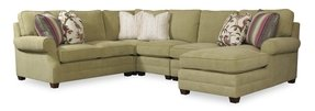 Green sectional sofa with chaise 4